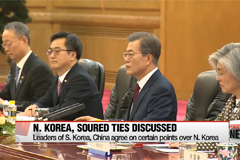 Leaders of South Korea, China agree on basic principles over N. Korean nukes; Xi asks Moon to 'appropriately handle THAAD'