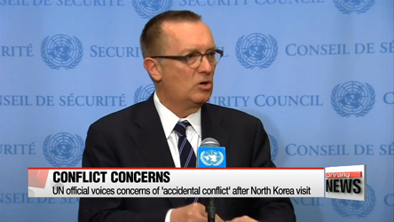 UN official voices concerns of 'accidental conflict' after North Korea visit