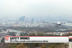 Korea's three mobile carrier firms unveil new safety drones