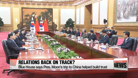 Blue House says Pres. Moon's trip to China helped build trust