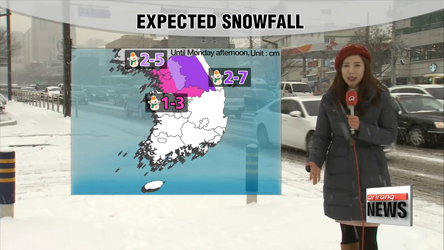 Snow hits Seoul, temperatures to ease this week