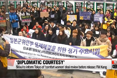 Neither South Korean nor Japanese leaders commit to visit with 'comfort women' deal review to come