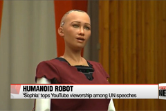 Video of humanoid robot Sophia tops YouTube viewership among UN speeches