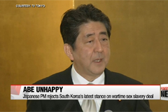 Japanese PM rejects South Korea's latest stance on wartime sex slavery deal