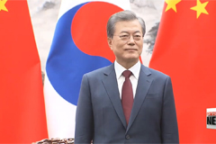 Presidents Moon and Xi reaffirm joint efforts to establish peace on Peninsula
