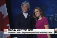 South Korea and Canada's foreign ministers meet ahead of Vancouver summit