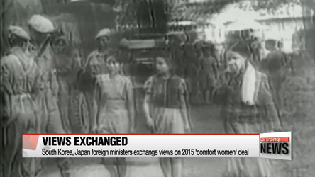 South Korea, Japan foreign ministers exchange views on 'comfort women' deal