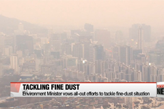 Environment Minister vows all-out efforts to tackle fine-dust situation