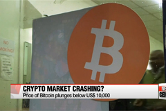 Bitcoin tumbles 28% to below $10,000
