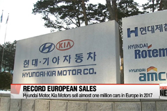 Hyundai Motor, Kia Motors sell almost one million cars in Europe in 2017