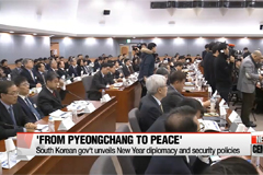 'From PyeongChang to peace': South Korean gov't unveils New Year diplomacy and security policies