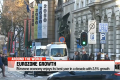 Eurozone economy enjoys its best year in a decade with 2.5% growth