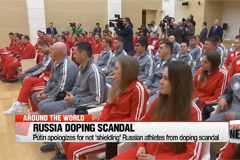 Putin apologizes for not 'shielding' Russian athletes from doping scandal
