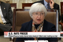 Federal Reserve holds interest rates steady in Yellen's last meeting as chair