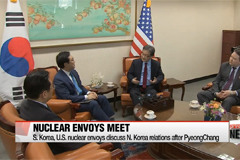 South Korea, U.S. top nuclear envoys look beyond PyeongChang after meeting in Seoul