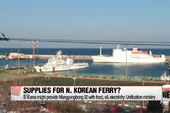 S. Korea might supply N. Korean ferry housing Olympic delegation
