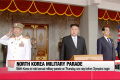 North Korea to holds annual military parade on Thursday, one day before Olympics begin