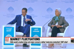 IMF chief views stock market fluctuation 'a correction,' not crisis