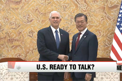U.S. Vice President Mike Pence signals United States is ready to talk with North Korea
