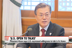 President Moon says U.S. expressed willingness to talk to N. Korea