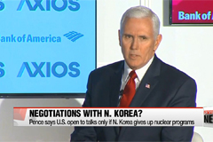 Pence: U.S. willing to negotiate only if N. Korea gives up its nukes