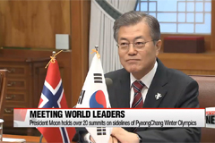 Leaders of S. Korea, Norway discuss N. Korea, economic cooperation