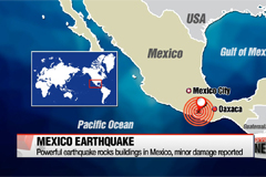 Powerful earthquake rocks buildings in Mexico, minor damage reported