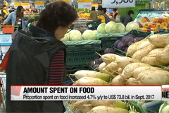 Proportion of income Koreans spend on food rose to highest level in 17 years
