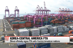 Seoul officially signs FTA with Central American nations