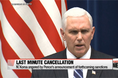 U.S. reveals North Korea cancelled meeting with Pence at last minute