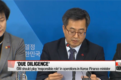 South Korea to quickly conduct due diligence on GM's South Korea unit: finance minister
