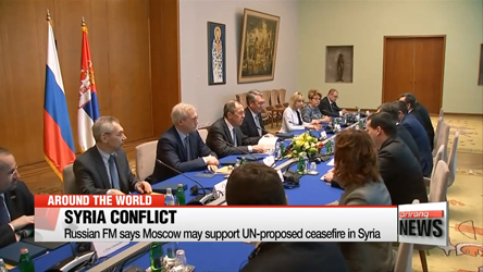 Russian FM says Moscow may support UN-proposed ceasefire in Syria