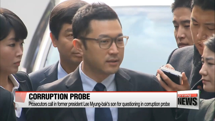 Prosecutors call in former president Lee Myung-bak's son for questioning in corruption probe