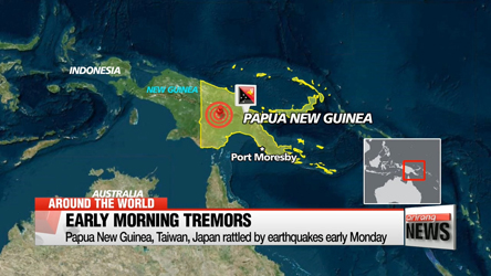 Papua New Guinea, Taiwan, Japan rattled by earthquakes early Monday