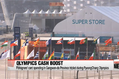 Foreigners' card spending in Gangwon-do Province tripled during PyeongChang Olympics