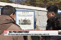 N. Korea rejects preconditions for direct talks with U.S.
