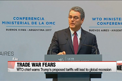 WTO chief warns Trump's proposed tariffs will lead to global recession