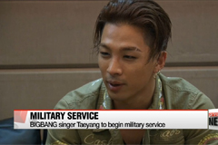BIGBANG's Taeyang to begin military service
