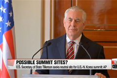 Where are possible sites for summit talks between U.S. and N. Korea?