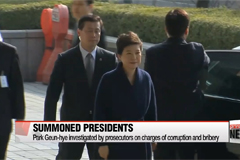 Lee Myung-bak is Korea's fifth former president to be summoned by prosecutors