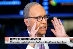 Conservative TV commentator Larry Kudlow named Trump's top economic adviser