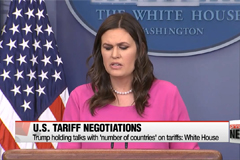 Trump holding talks with 'number of countries' on tariffs: White House