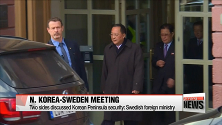 FMs of Sweden, N. Korea discuss