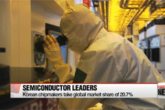 Korean chipmakers take global market share of 20.7%