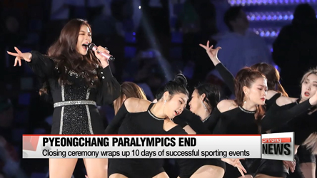 PyeongChang 2018 Paralympics comes to an end on Sunday with its c...