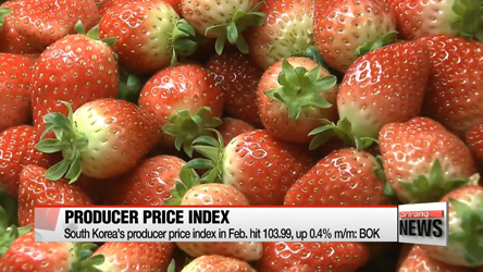 South Korea's producer prices go up in February