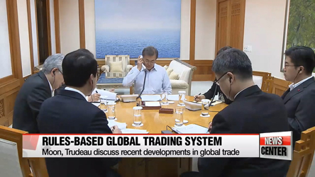 S. Korea's Moon and Canada's Trudeau highlight importance of rules-based global trading system
