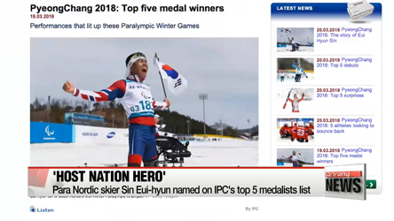 Para Nordic skier Sin Eui-hyun named on IPC's top 5 medalists lis...