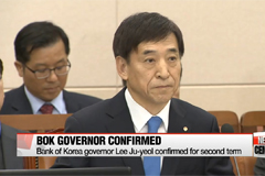 BOK governor Lee Ju-yeol confirmed for second term