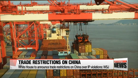 White House to announce trade restrictions on China over IP violations